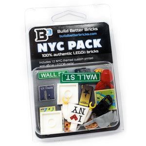 New York City Pack - Custom LEGO Parts + Minifig Accessories