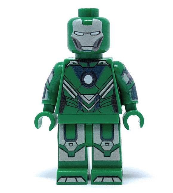 Green Iron Hero - Custom LEGO Minifigure w/ Display Case