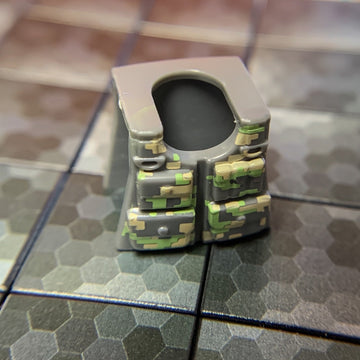 Camoflage (Alpine Staker) Armored Vest - BrickForge Part for LEGO Minifigures
