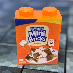 Frosted Mini Bricks Cereal - Custom Printed LEGO 1x2x2 Brick