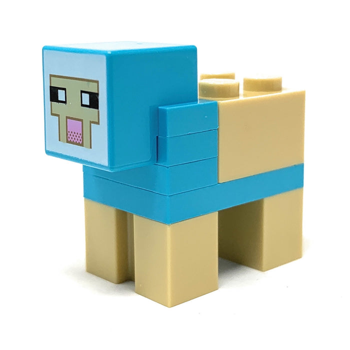 Sheep (Medium Azure) - LEGO Minecraft Minifigure (2017)