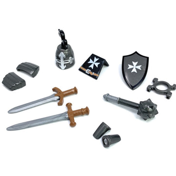 Hospitaller Knight Crusader Minifig Accessory Pack - BrickForge