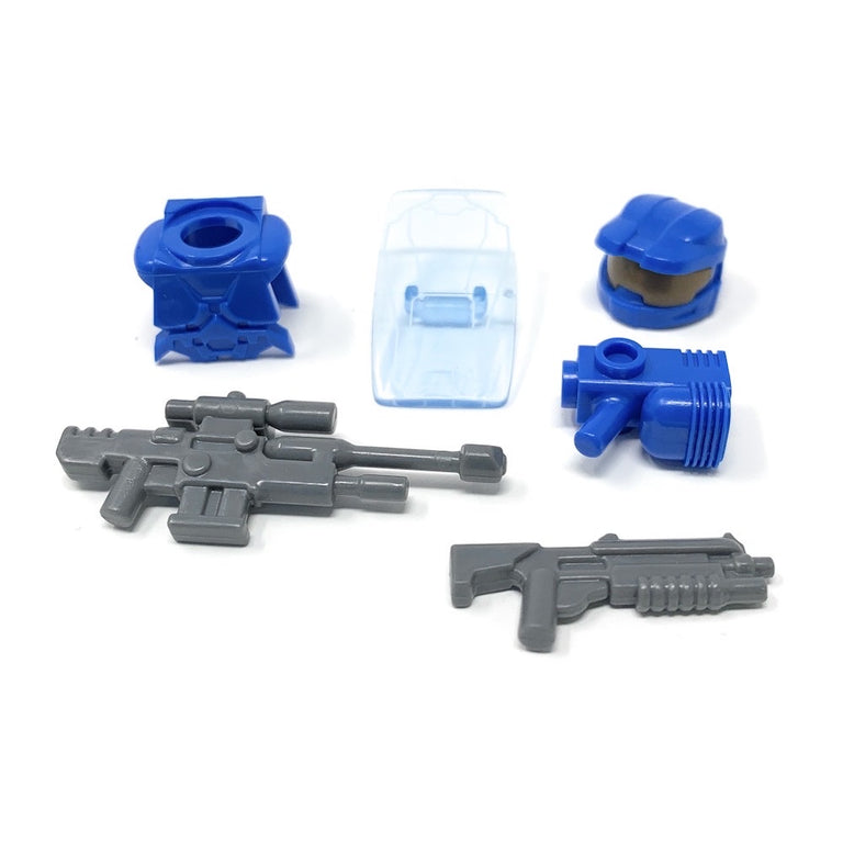 Power Assault (Blue) - BrickForge Minifigure Weapons Pack