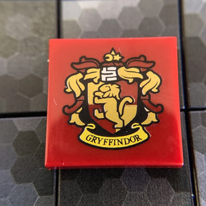 Gryffindor House Crest Pattern - 2x2 Tile, Official LEGO® Part (Harry Potter)