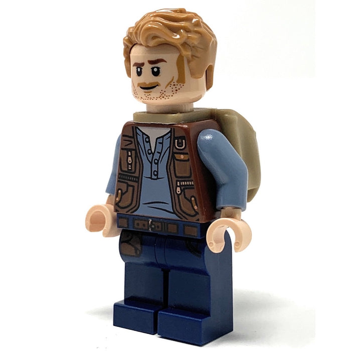 Owen Grady (Fallen Kingdom with Backpack) - LEGO Jurassic World Minifigure (2018)