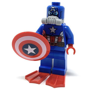 Captain America w/ Shield (Scuba) - LEGO Marvel Minifigure (2016)