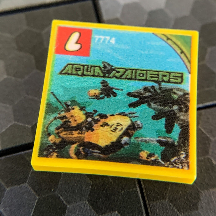 Crab Crusher Aqua Raiders Set 7774 - Custom Printed LEGO 2x2 Tile