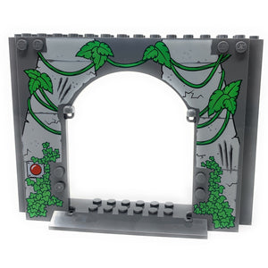 Large Panel with Vines, Red Button (Jurassic World) - Official LEGO® Part (2018)