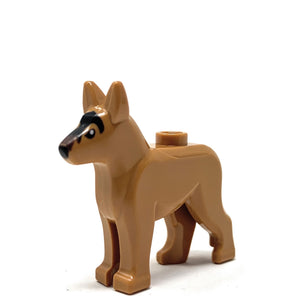Dog (Brown with Black Eyes, Nose) - Official LEGO® Part