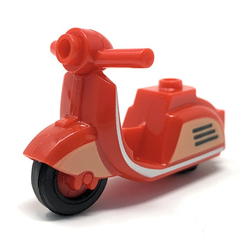 Scooter (Red, Retro) - BrickForge Pack