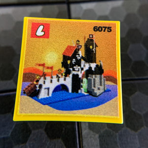 Wolfpack Tower Set 6075- Custom Printed LEGO 2x2 Tile
