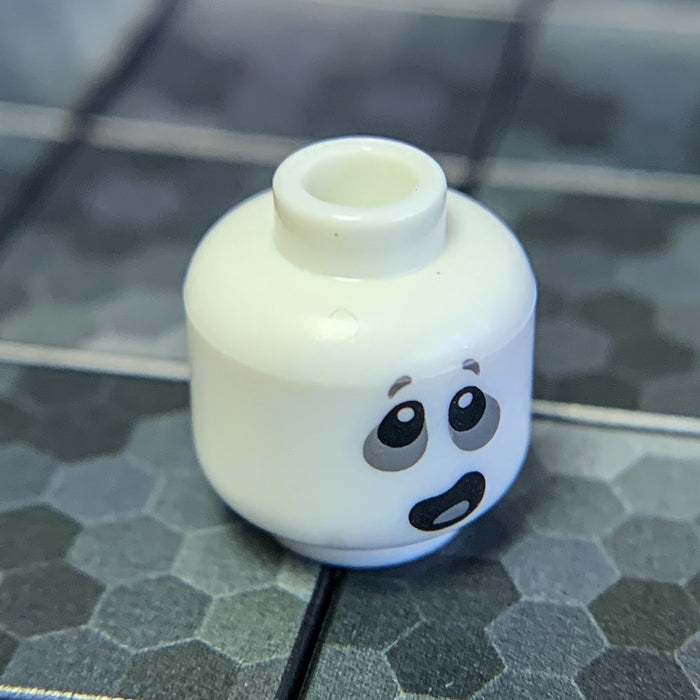 Ghost (Lopsided Mouth) - Official LEGO® Minifigure Head