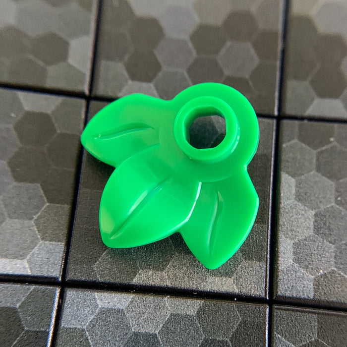 Plant Plate, Round 1 x 1 with 3 Leaves - Official LEGO® Part