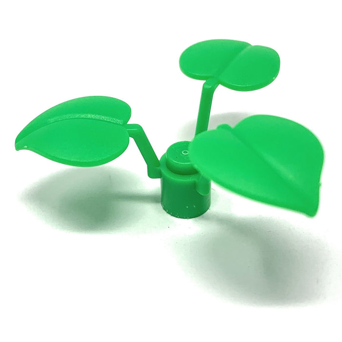 Plant, Flower Stem 1 x 1 x 2/3 with 3 Large Leaves - Official LEGO® Part