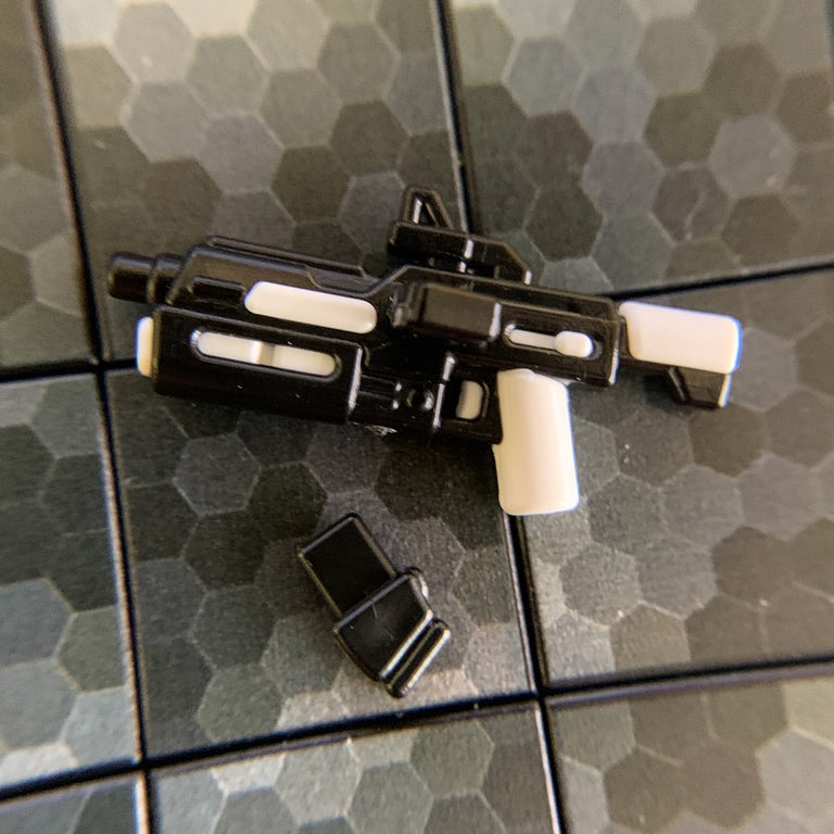 Blaster Rifle, WHITE Trooper Gear - BrickArms