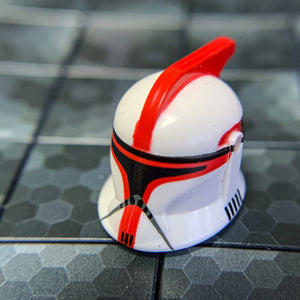 Clone Trooper Helmet (Phase 1, Captain, Red) - Clone Army Customs