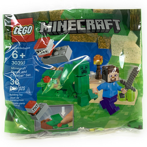 Minecraft Steve and Creeper - Lego Minecraft Polybag Set (30393)
