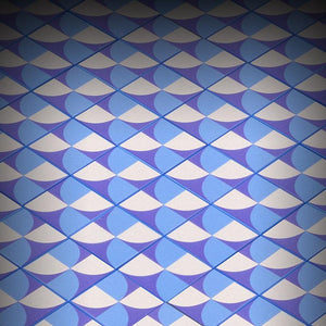 Blue Lightning Scallop Flooring - Custom Printed LEGO 2x2 Tile