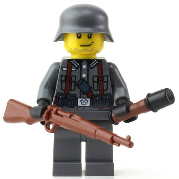 LEGO German Kar98 WW2 Soldier - Custom Military Minifigure