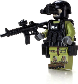 DEA Special Response Team SRT Officer - Custom LEGO Military Minifigure