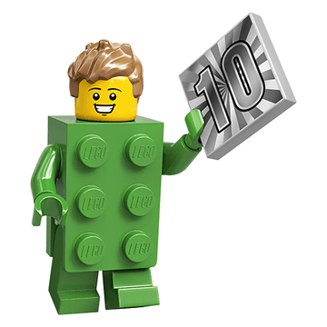 Green Brick Suit Guy (20th Anniversary) - LEGO Series 20 Collectible Minifigure