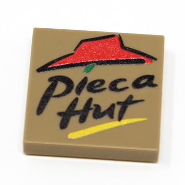 Pieca Hut (Pizza) - Custom Printed LEGO 2x2 Tile