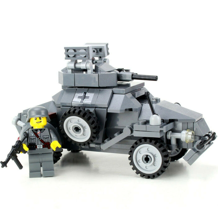 German WW2 Armored Car Sd.Kfz 222 - Custom LEGO Military Set