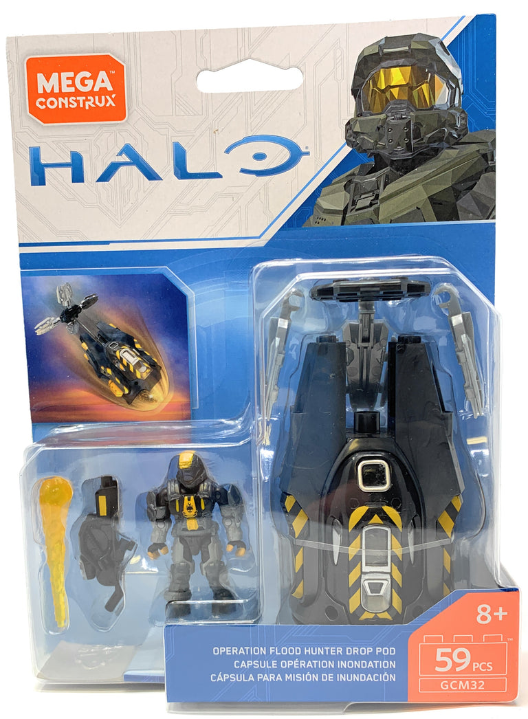 Operation Flood Hunter Drop Pod - HALO Mega Construx Building Set GCM32