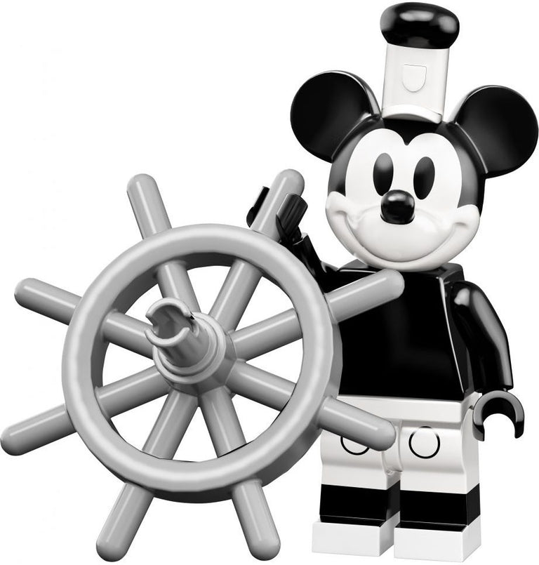 Mickey Mouse, Steamboat Willie (Vintage) - LEGO Disney Collectible Minifigure (Series 2)