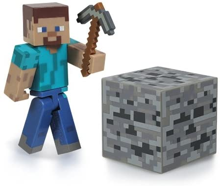 "Steve w/ Pickaxe - Minecraft 2.75"" Scale Action Figure"