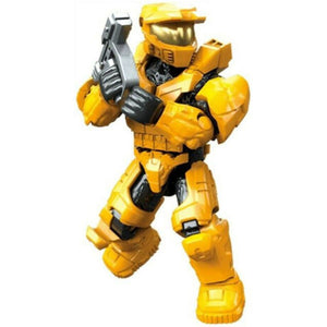 UNSC Spartan Mark V (Yellow Armor) - Mega Construx Halo Micro Figure (Clash on the Ring)