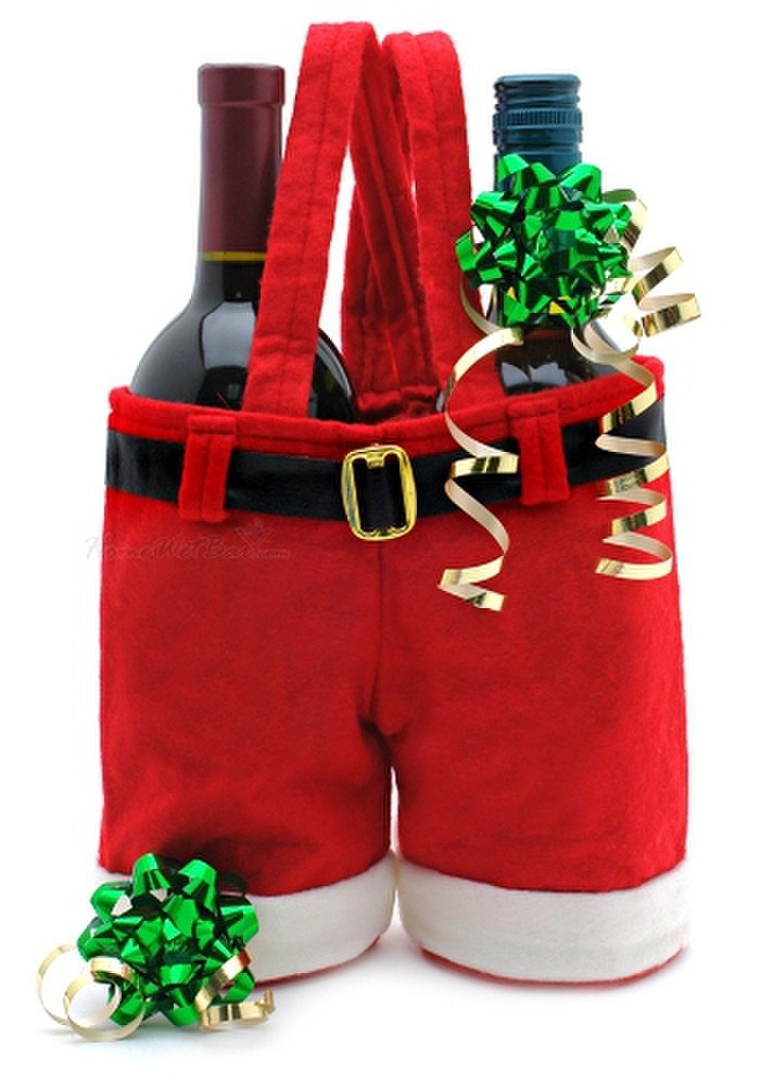 Christmas Santa Pants Gift Bag