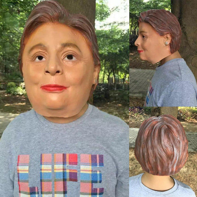 Donald Trump & Hillary Clinton Costume Mask - Realistic Latex