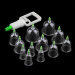 Effective Healthy 12 Cup Medical Vacuum Cupping Suction Therapy Set