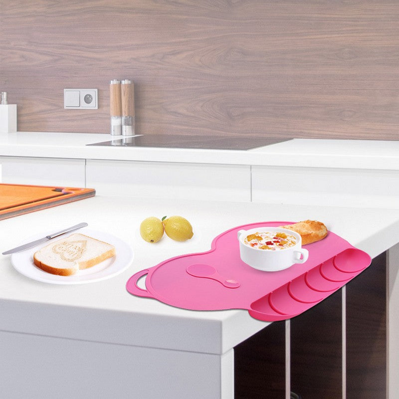 One-Piece Silicone Placemat + Plate