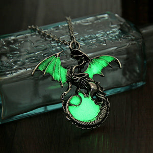 Game of Thrones Dragon Pendant Necklace GLOW in the DARK - Stainless Steel