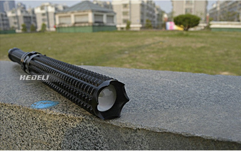 Powerful Telescoping LED Tactical Torch Baton Flashlight Self Defense