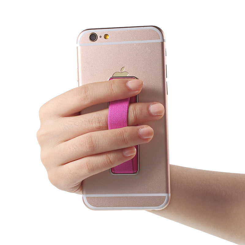 Phone Holder Finger Grip Elastic Band Strap With Stand For Smartphone