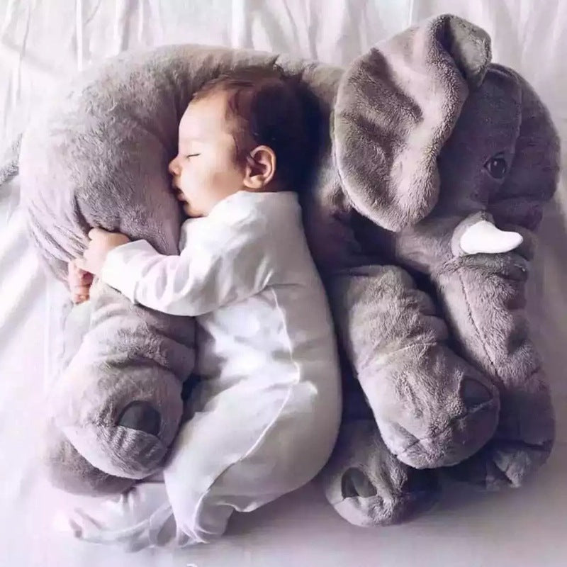 Large Plush Sleeping Elephant Pillow