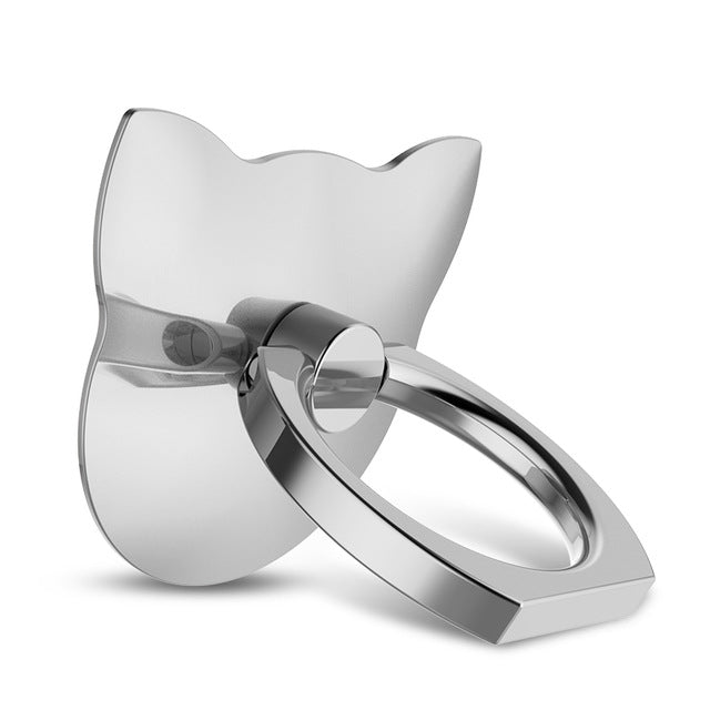 Cat Phone or Tablet Metal Stand Ring Holder Finger Ring