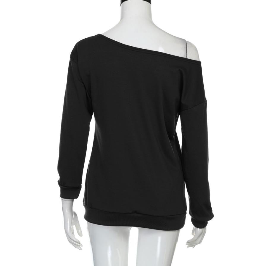 Sexy Women's Halloween Long Sleeve Off Shoulder Shirt
