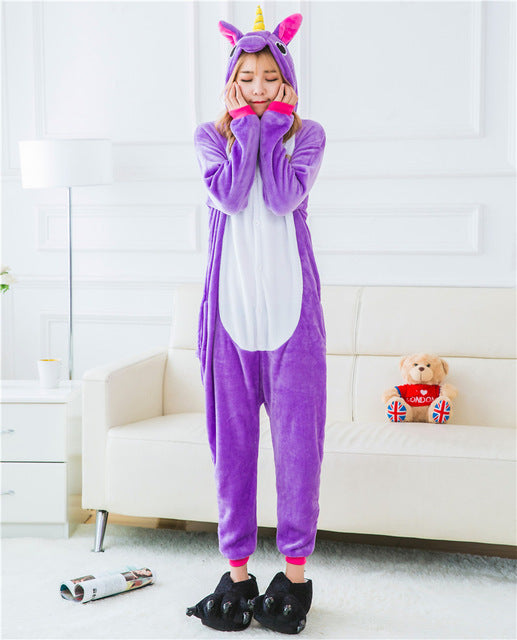 Animal Unicorn Pajamas Adult Halloween Costume