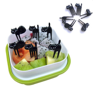 Black Cat Toothpicks, 6pcs