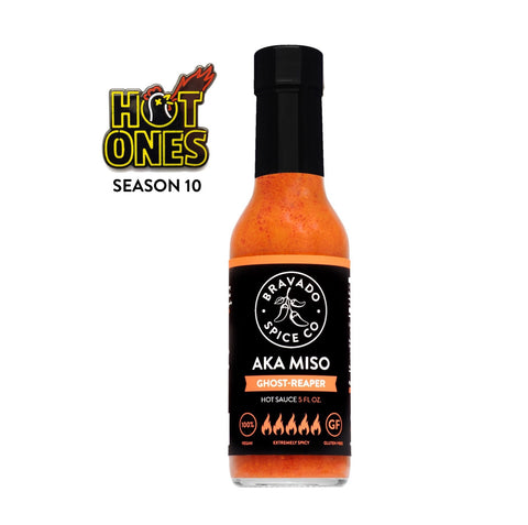 bravado spice aka miso ghost-reaper hot sauce on hot ones