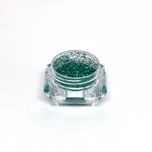 Green holographic nail glitter