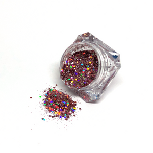 Diamond Blush Nail art glitter in jar
