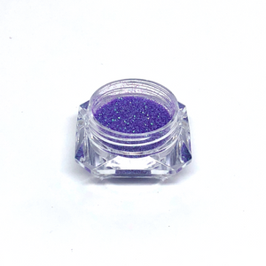 Purple nail glitter in a jar - for nail art