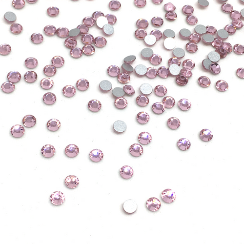 SS10 Light Rose Flatback Crystals - 300 Crystals