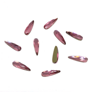 Light Rose Raindrop Crystals