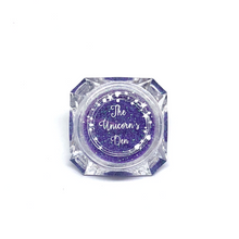 The unicorns den purple nail glitter